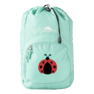 Cute trendy girly modern red ladybug backpack