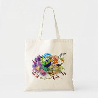 cute trendy kiwi collage tote bag