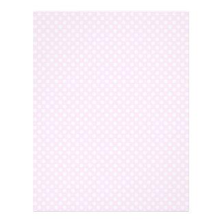 Cute Trendy Pink White Polka Dots Pattern 21.5 Cm X 28 Cm Flyer