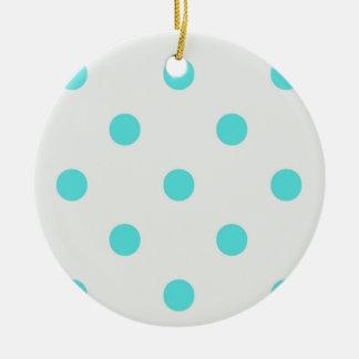 Cute Trendy Polka Dots Ceramic Ornament