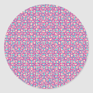 Cute Trendy Scribble Bows Classic Round Sticker