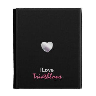 Cute Triathlon iPad Folio Case