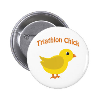 Cute Triathlon Chick 6 Cm Round Badge