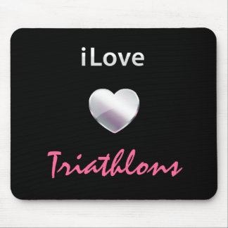 Cute Triathlon Mouse Pad