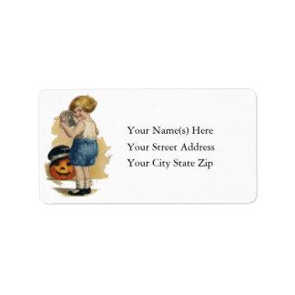 Cute Trick or Treater Vintage Address Label