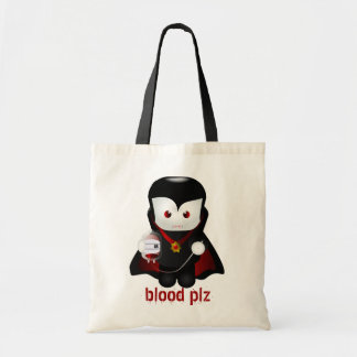 Cute Trick-or-Treating Vampire Tote Bag