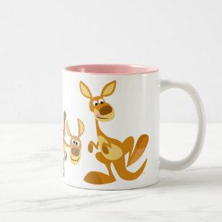 Cute Trio of Cartoon Kangaroos Mug
