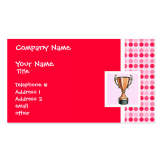 Cute Trophy Business Card Templates