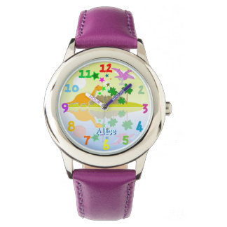 Cute Tropical Island Dinosaurs Watch