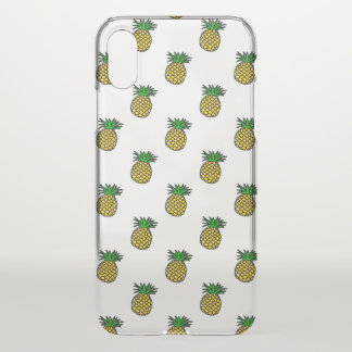 Cute Tropical Summer Fruits Pineapples Pattern iPhone X Case