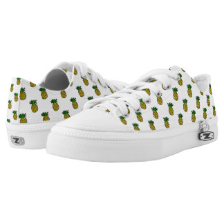 Cute Tropical Summer Fruits Pineapples Pattern Low Tops