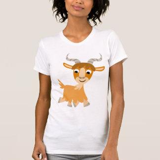 Cute Trotting Cartoon Goat  Women T-Shirt