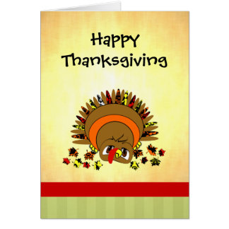 Cute Turkey Greeting Card