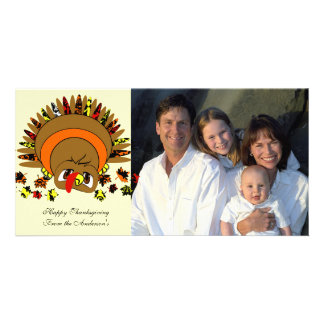 Cute Turkey Customized Photo Card