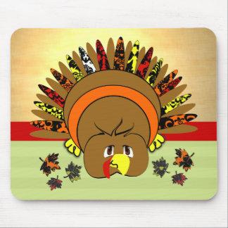 Cute Turkey LeavesThanksgiving MousePad