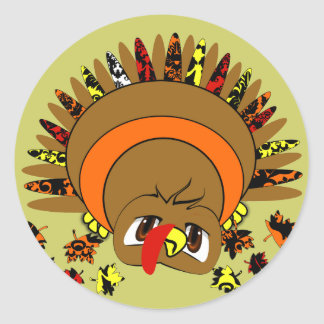 Cute Turkey Sticker