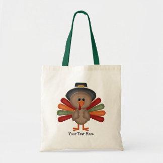 Cute Turkey Thanksgiving (customizable) Budget Tote Bag