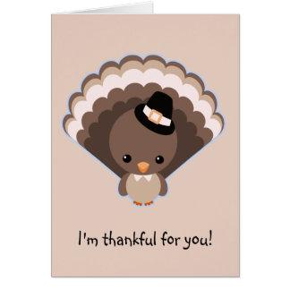 Cute Turkey Thanksgiving Day Greeting Card