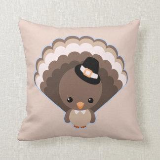 Cute Turkey Thanksgiving Day Throw Pillows