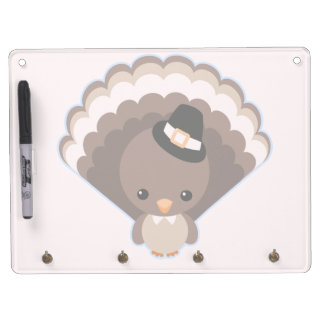 Cute Turkey Thanksgiving Day Dry-Erase Boards