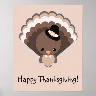 Cute Turkey Thanksgiving Day Print