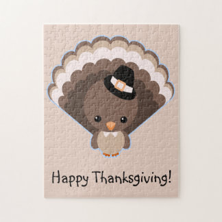 Cute Turkey Thanksgiving Day Jigsaw Puzzle