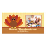 Cute Turkey Thanksgiving Family Photo Card