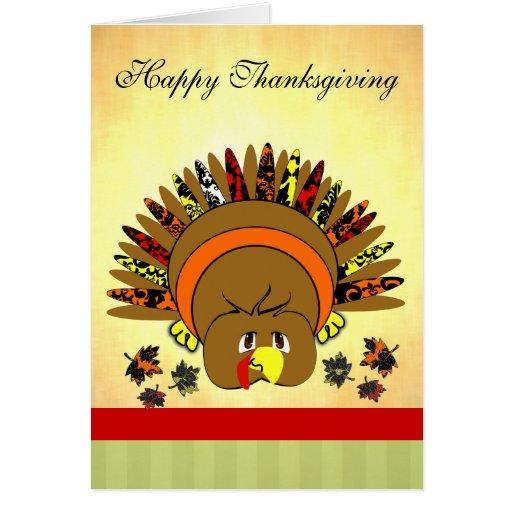 Cute Turkey Thanksgiving Greeting Card