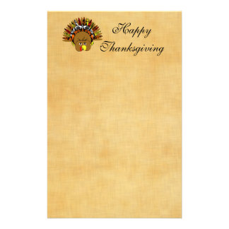 Cute Turkey Thanksgiving Stationery