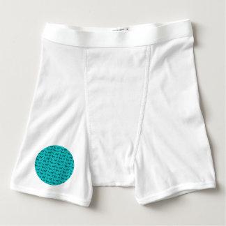 Cute turquoise dachshund pattern boxer briefs