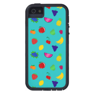 Cute turquoise fruits pattern iPhone 5 cases