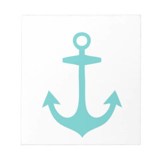 Cute Turquoise Nautical Design Notepads