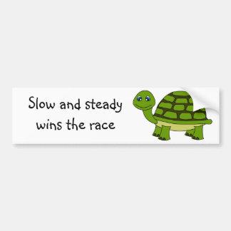 Cute Turtle Cartoon Bumper Sticker