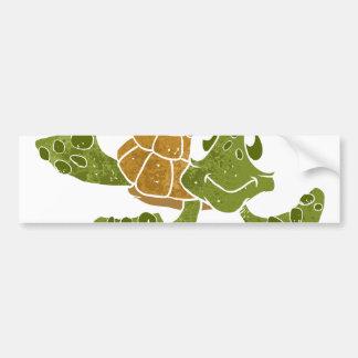 Cute turtle cartoon. bumper sticker