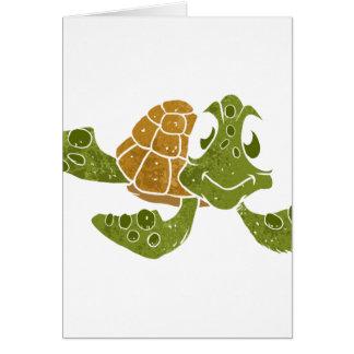 Cute turtle cartoon. card