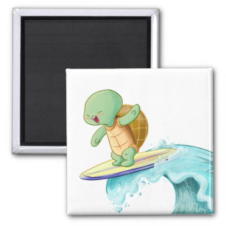 Cute Turtle Kawaii Square Magnet