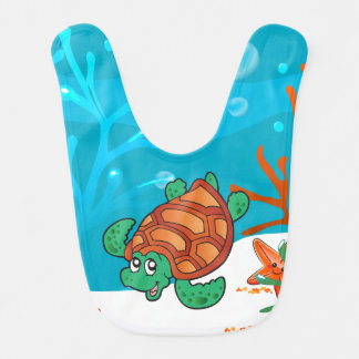 Cute Turtle Ocean Aquatic Baby Bib