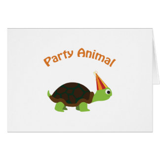 Cute Turtle Party Animal Greeting Card