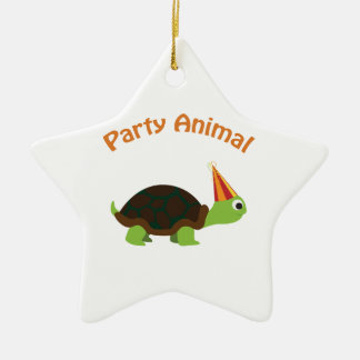 Cute Turtle Party Animal Ornaments