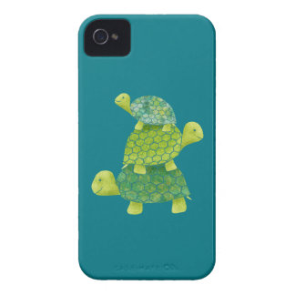 Cute Turtle Stack Family iPhone 4 Case