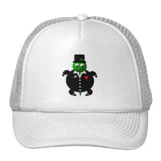 Cute turtle wearing a tuxedo! cap
