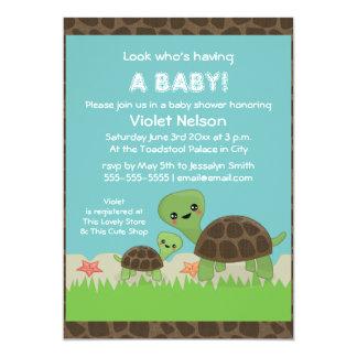 Cute Turtles Baby Shower Invitation