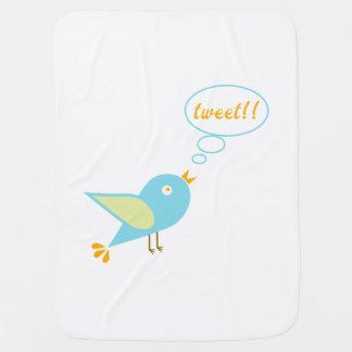 Cute tweet baby blanket