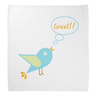 Cute tweet bandana