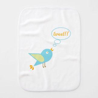 Cute tweet burp cloth