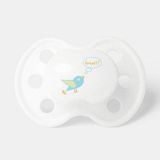 Cute tweet pacifiers