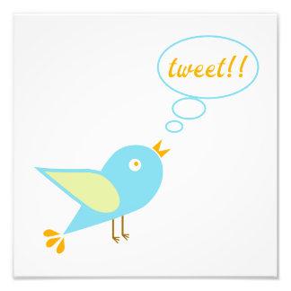 Cute tweet photo print