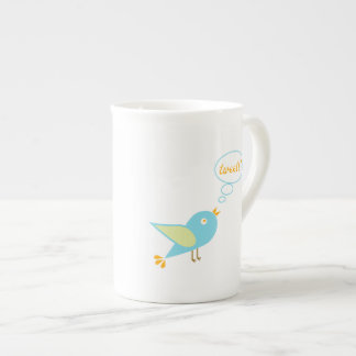 Cute tweet tea cup