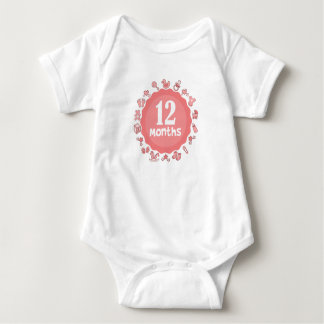 Cute Twelfth Month Baby Bodysuit