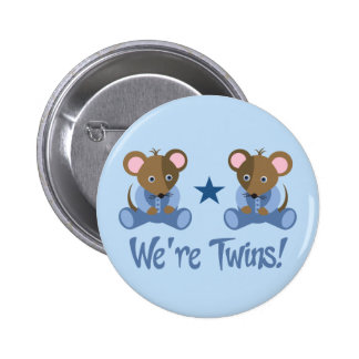 Cute Twin Boy Mice Gift 6 Cm Round Badge